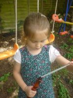 Ditsy floral corduroy pinafore dress - made to order
