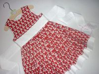Red snowman party dress - made to order