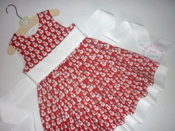 Red snowman party dress