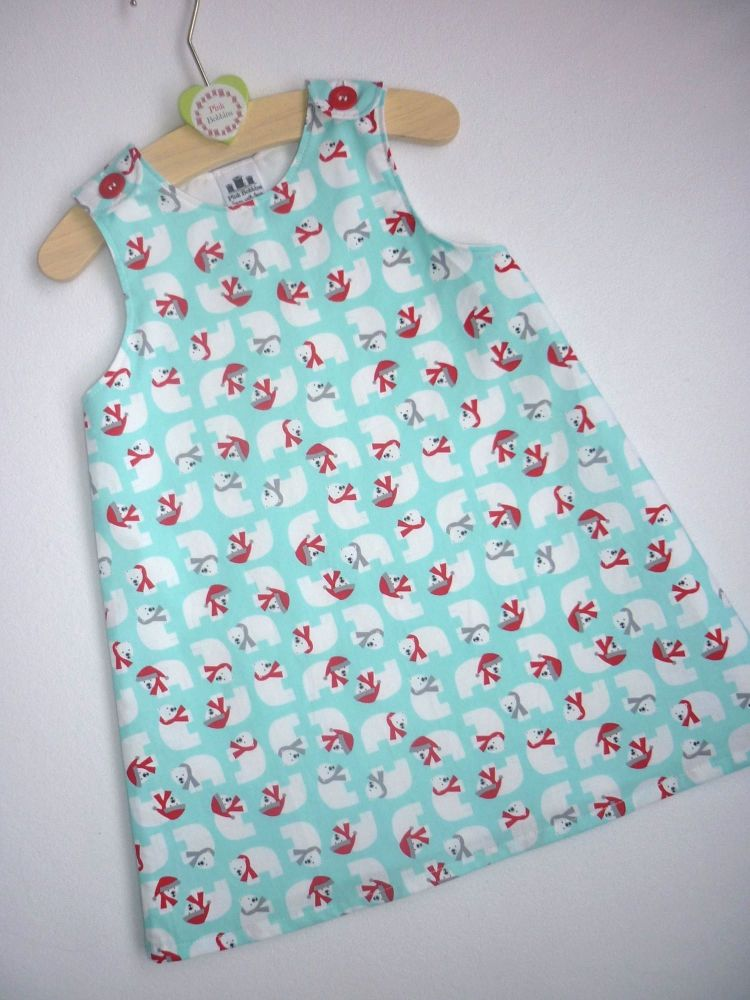 Polar bear pinafore dress