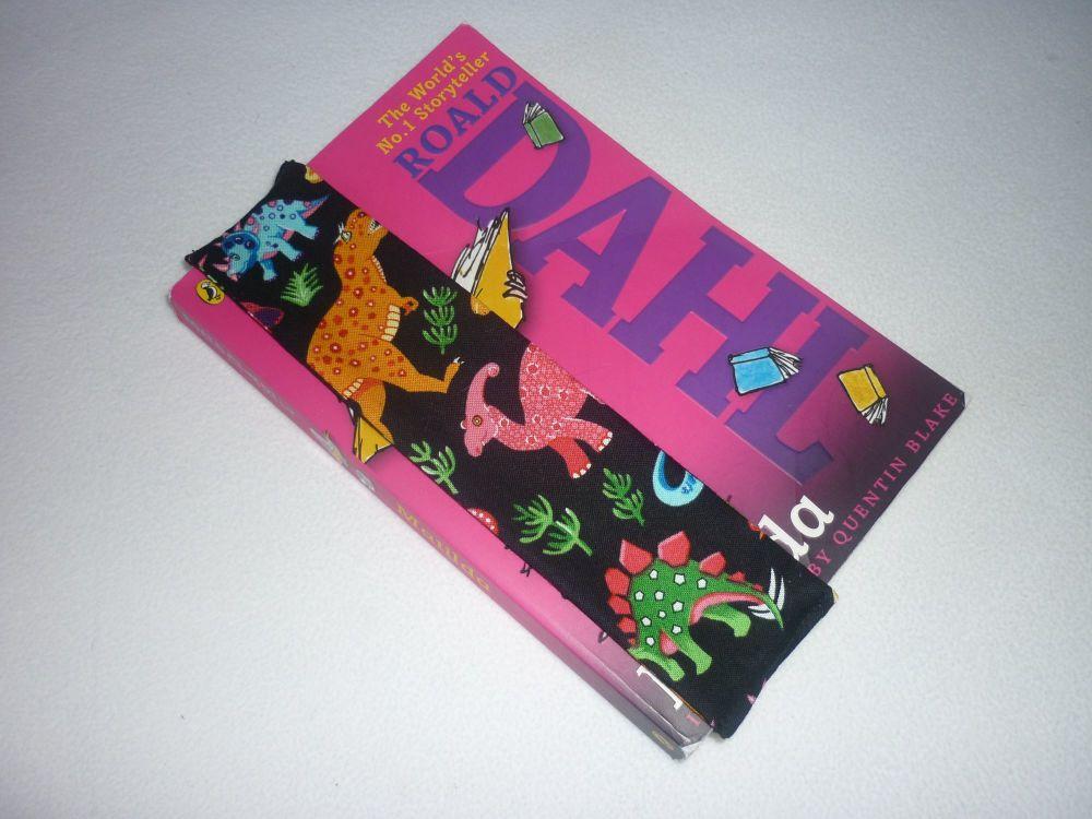 Dinosaur (black) elasticated bookmark