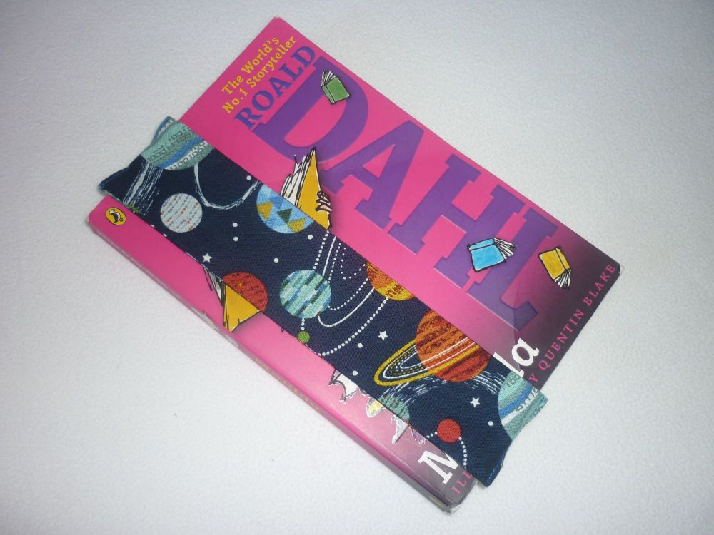 Space planets elasticated bookmark