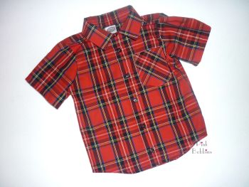 Red tartan classic shirt - made to order