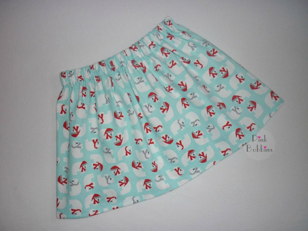 Christmas polar bear skirt