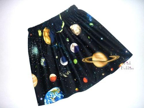 Space solar system skirt