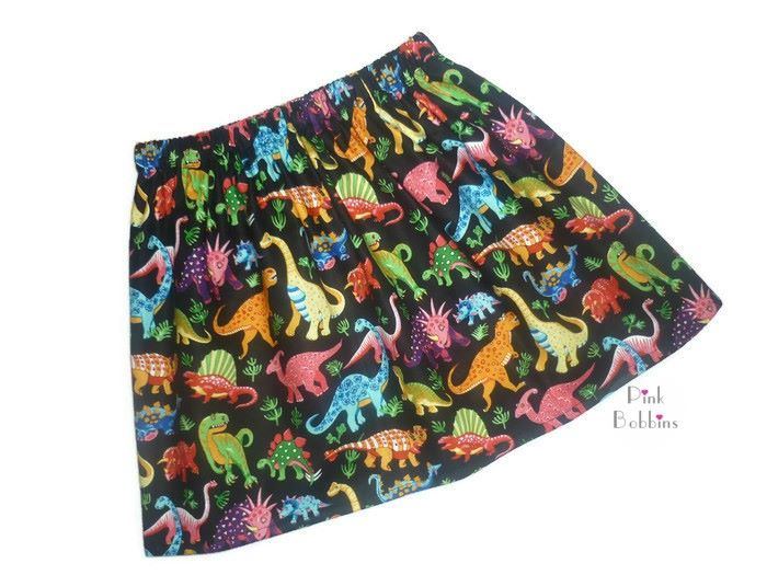 Black dinosaur skirt