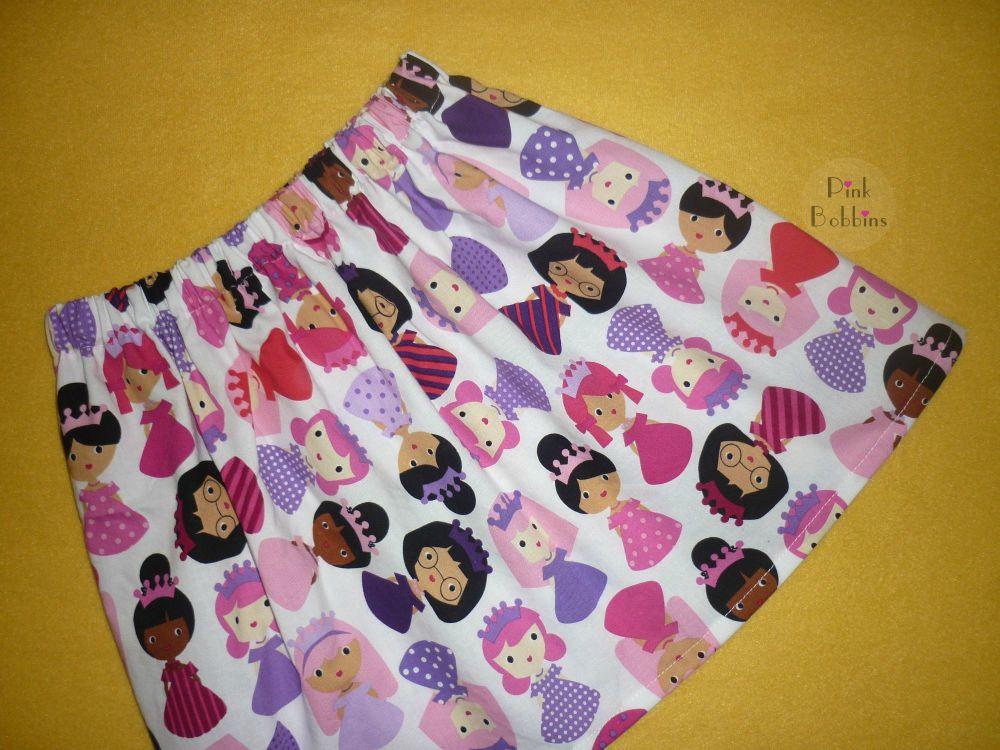 Princess doll skirt - pinks and purples