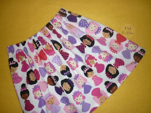 Princess doll skirt - pinks and purples
