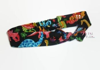 Dinosaur fabric headband - made to order