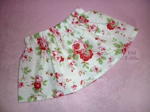 Girly rose floral skirt