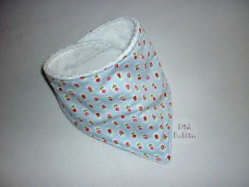 Ditsy floral stripe dribble bib - made to order