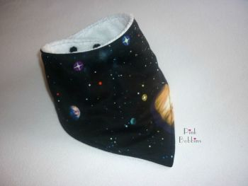 Solar system dribble bib - made to order