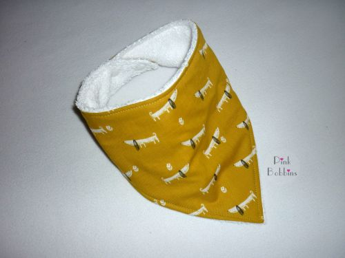 Dachshund dog dribble bib