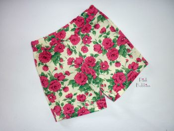 Liberty of London rose fabric shorts