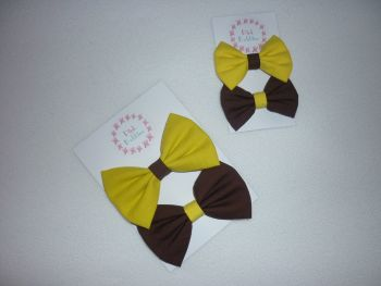 Brownies hair bow pair