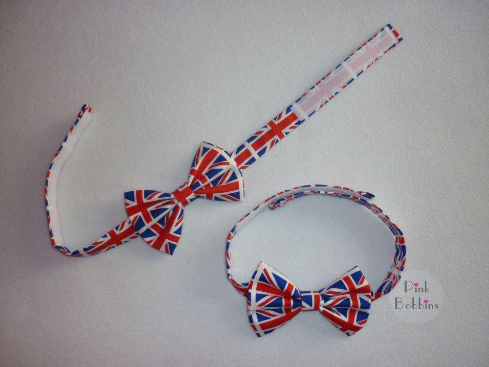 Union Jack classic bow tie