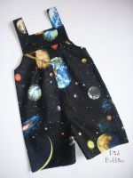 Space solar system dungarees - long or short leg - made to order