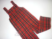 Tartan dungarees - long or short leg - made to order