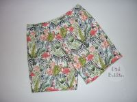 Zebra and flamingo shorts