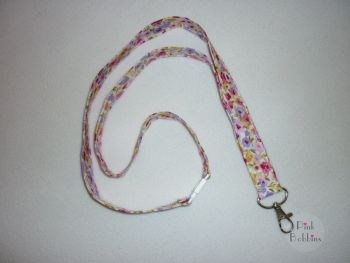 Fabric lanyard - floral - made to order