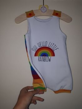 Oh! Hello little rainbow baby jersey romper - short leg