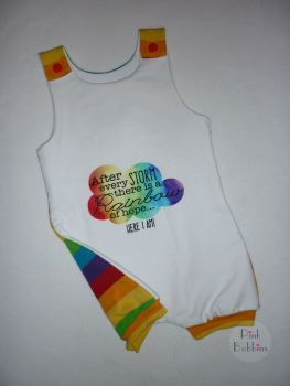 After every cloud... baby jersey romper - short leg