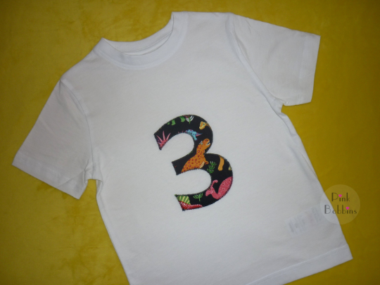 Boy's birthday t-shirt - dinosaurs - any number!