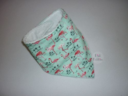 Flamingo dribble bib (mint)