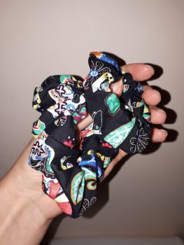 Sugar skull scrunchie - made to order