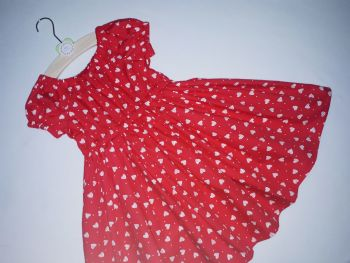 Love heart twirly dress - made to order