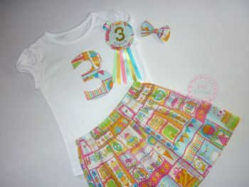 Girl's birthday t-shirt - birthday design - any number!