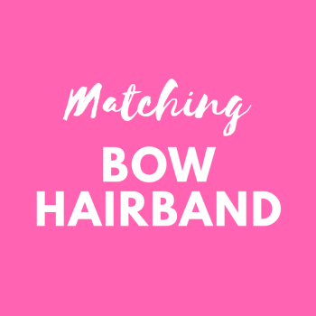 Matching bow hairband - match your Pink Bobbins outfit