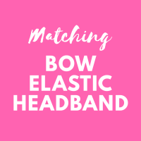 Matching elastic bow headband - match your Pink Bobbins outfit