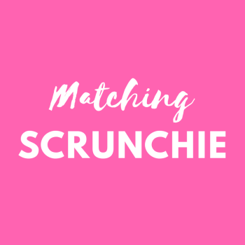 Matching scrunchie - match your Pink Bobbins outfit
