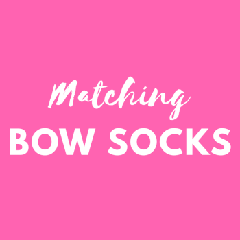 Matching frilly bow socks - match your Pink Bobbins outfit