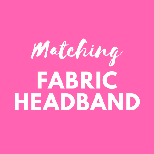 Matching fabric headband - match your Pink Bobbins outfit