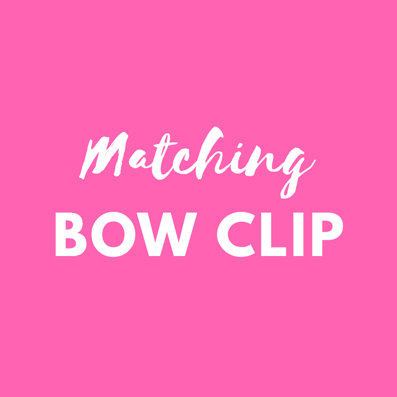 Matching bow clip - match your Pink Bobbins outfit