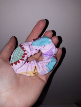 Dinosaur (pink) scrunchie - made to order