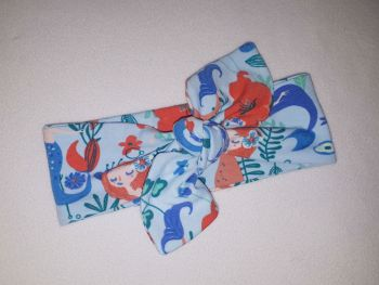 Mermaid stretchy headband - made to order