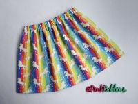 Rainbow & unicorn skirt - made to order