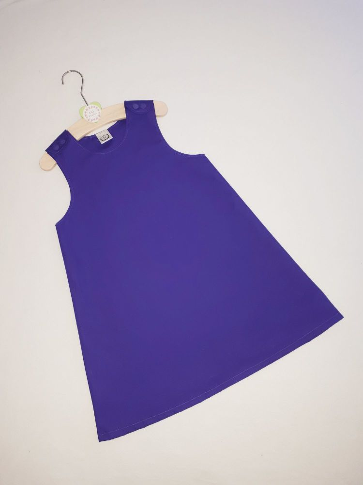 Plain purple pinafore dress