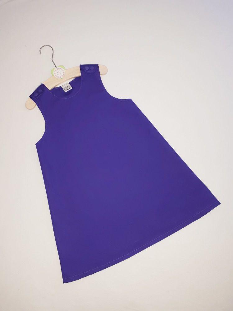 Plain purple pinafore dress