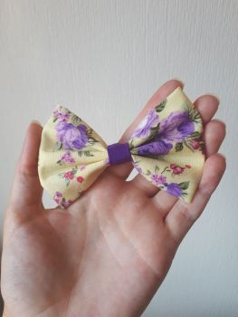 "Floral hair bow *LAST ONES* large 4"" size"