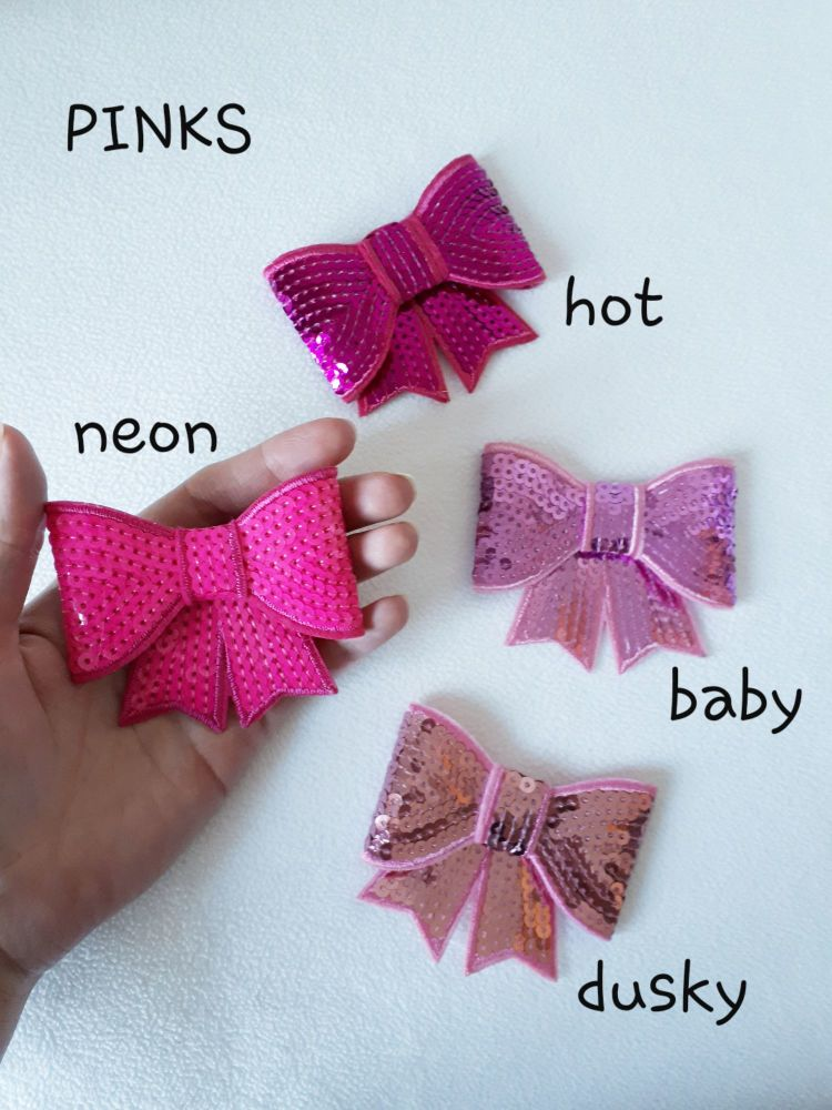 Pink shades - sequin hair bow