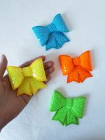 Neon shades - sequin hair bow - in stock