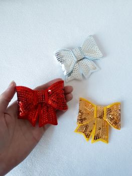 Christmas jewel shades - sequin hair bow