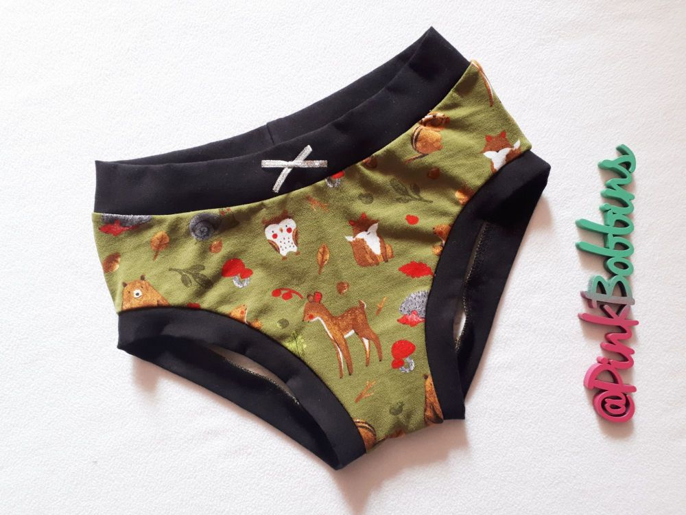 Woodland animal pants