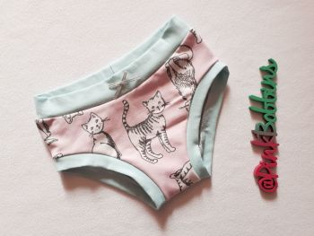 Cat pants (organic cotton) - made to order