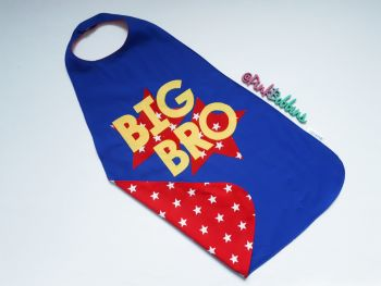Reversible BIG BRO superhero cape  (your choice of colours) - in stock