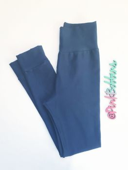 Plain coloured leggings with optional bow cuffs - made to order
